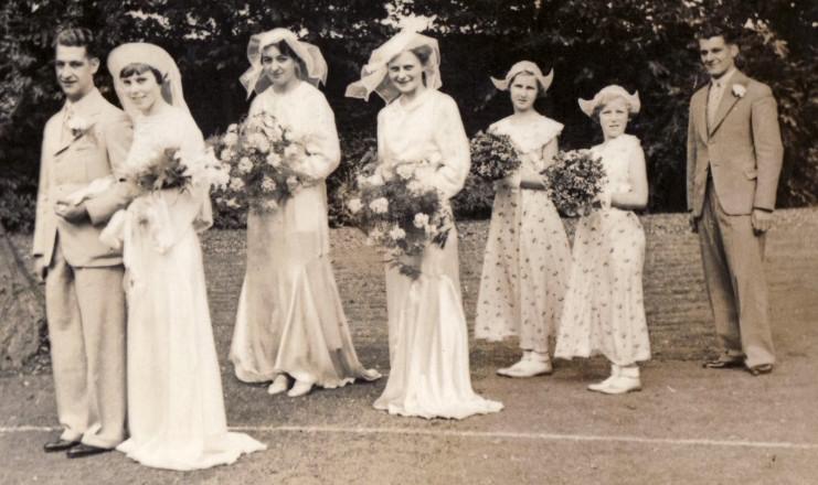 Eileen's wedding to Vincent Mortara (Sept 1936)